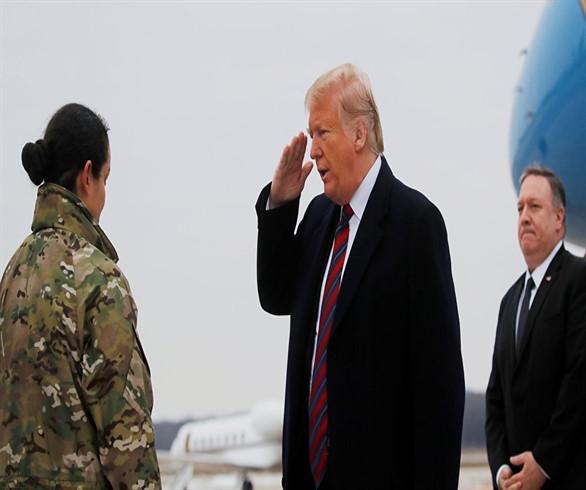 ترامب يتوجه لاستقبال نعوش القتلى الأمريكيين بتفجير منبج