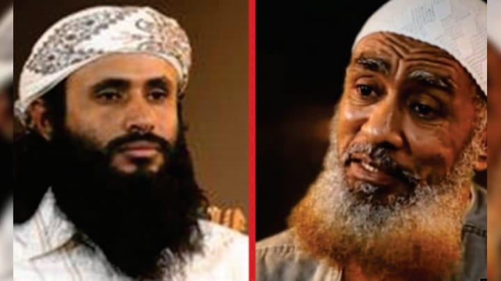 على اليمين إبراهيم أحمد محمود القوصي - وعلى اليسار سعد بن عاطف العولقي