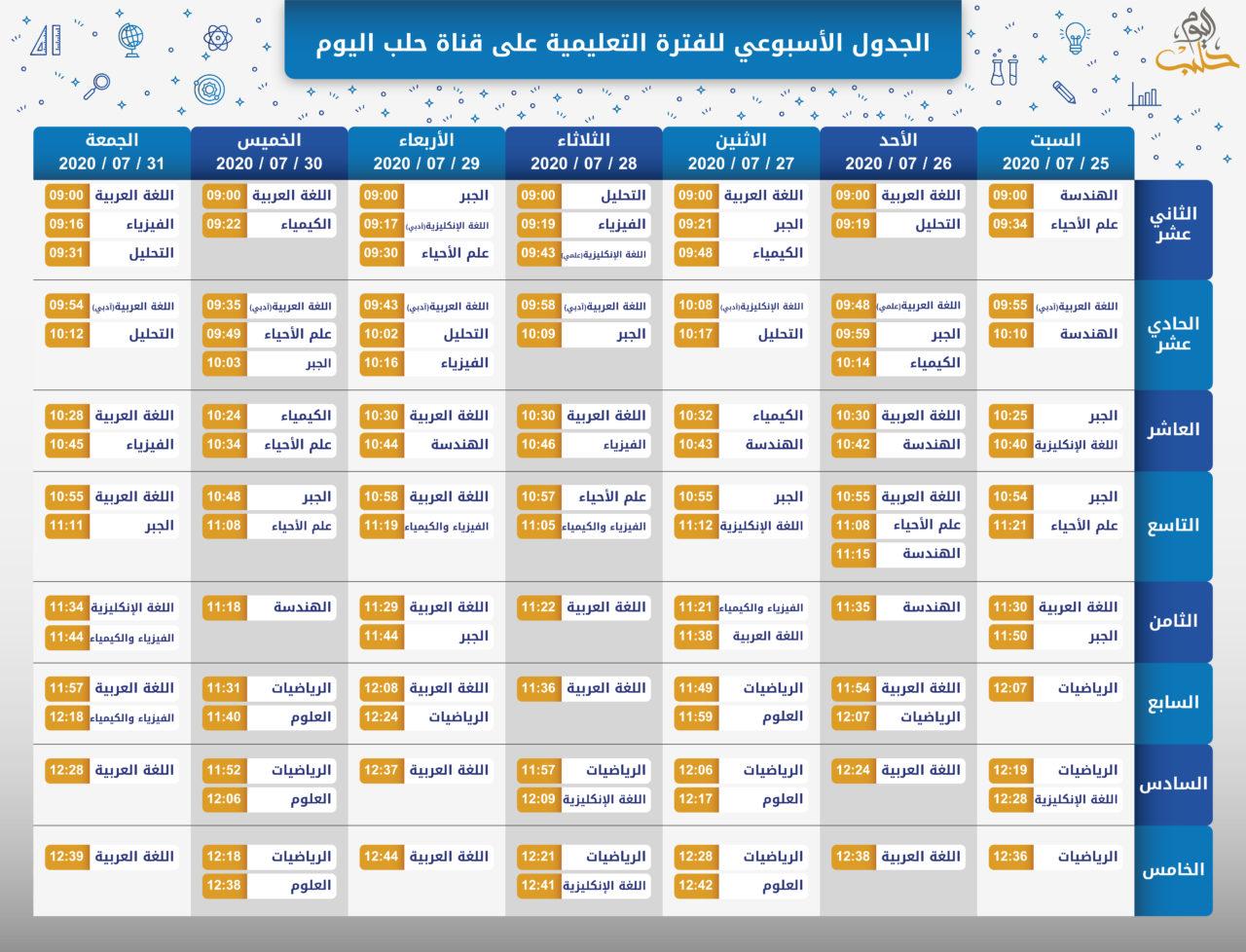 الجدول-الاسبوعي-للفترة-التعليمية